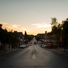 Kirkwood Avenue is seen during a summer evening on Thursday, July 30, 2015.