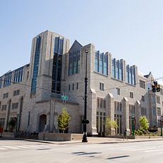 Hodge Hall at the Kelley School of Business is seen on a summer day on Friday, Aug. 7, 2015.