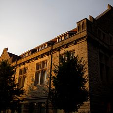 Franklin Hall, home of The Media School at Indiana University, is pictured on a summer evening on Friday, June 21, 2019.