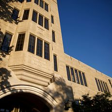 Maurer School of Law at Indiana University Bloomington is pictured on a summer evening on Thursday, June 27, 2019.
