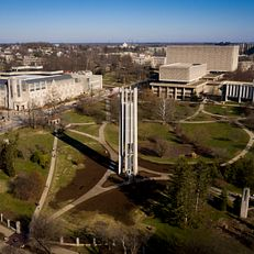 The Metz Bicentennial Grand Carillon stands in the Cox Arboretum at IU Bloomington on Thursday, Jan. 16, 2020.