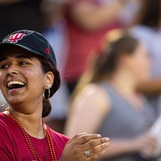 Traditions and Spirit Welcome Week event at IU Bloomington on Friday, Aug. 20, 2021. (Photo by Chris Meyer/Indiana University)