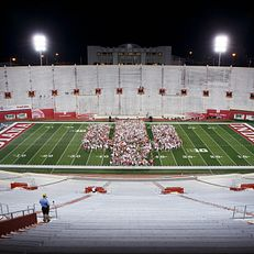 Members of the IU Class of 2023 pose for a class photo on the field during the Traditions and Spirit of IU at Memorial Stadium on Friday, Aug. 23, 2019.