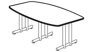 Portico Tables | Boat Top (Fixed Leg)