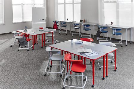 Ruckus class11a PLdesks stackchairs stools rectangletables