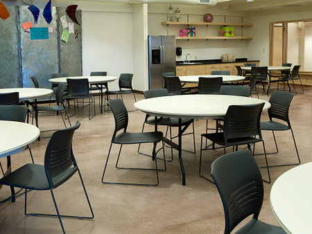 childrens museum 21 - DuraLite Tables, Strive High-density Stack Chairs