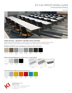 University Fixed Seating Finish Specification Guide