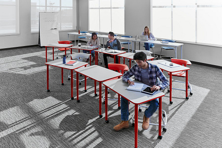 Ruckus class12c PLDesks tables stackchairs students