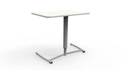 ADA Set Screw Adjustable Desk with Rolling Base