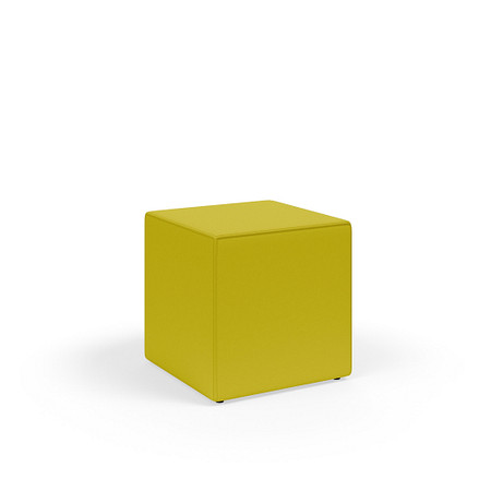 MyPlace 18InchCube Ottoman Glides FrontAngle