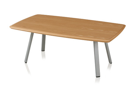 SolticeMetal RectangularCoffeeTable 16Tall42x24 Natural