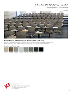 Single Pedestal Fixed Seating Finish Specification Guide