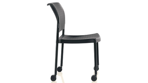 Poly Stack Chair with Casters