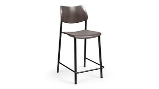 Katera Cafe Stool | Wood Seat and Back
