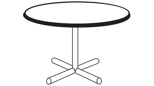 Round Top (Fixed/Folding Leg or Flip Top)