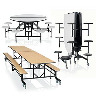 CafeWay Cafeteria Tables CAD Symbols