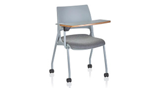 Doni Stack Chair | Doni Stack Chair (All Bases, Solid Shell, Two-Tone and/or Upholstered) with ChangeUp Tablet Arm