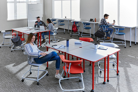 Ruckus class11e students PLdesks tables stackchairs stools