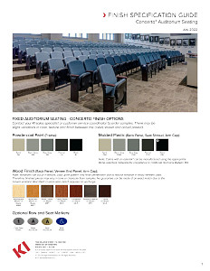 Concerto Auditorium Seating Finish Specification Guide
