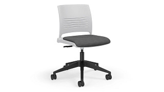 Strive Task Chair | Poly Back, Upholstered Seat