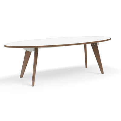 Connection Zone Wood Leg Conference Table