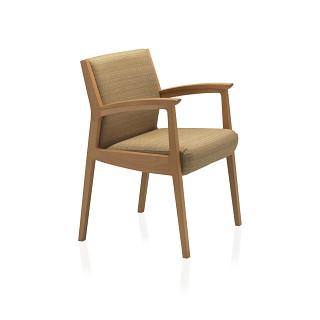 Soltice Wood Guest Chair CAD Symbols