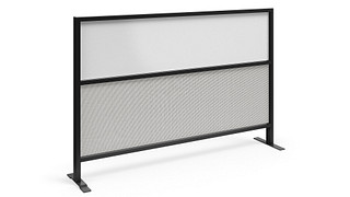 Tattoo Screens | Segmented Flex Screen with Fabric Lower, Magnetic Dry-Erasable Steel Upper Core