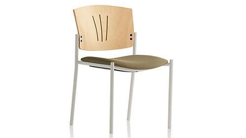 square 4 leg wood back uph seat