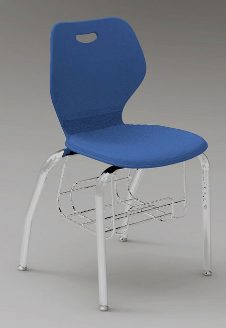 Wave chair music bookrack render