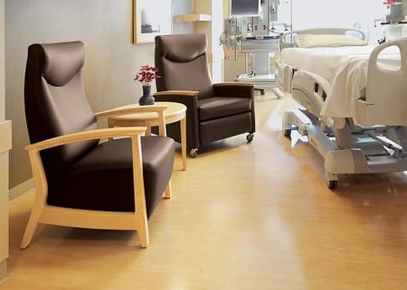 AtlantiCare Hospital Room Soltice Patient Ch Recliner Flex