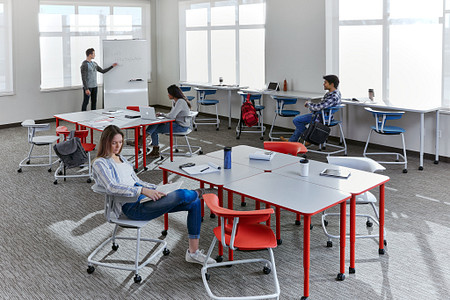 Ruckus class11c students PLdesks tables stackchairs stools
