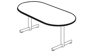 Portico Tables   Racetrack Top (Fixed/Folding Leg or Flip-Top)