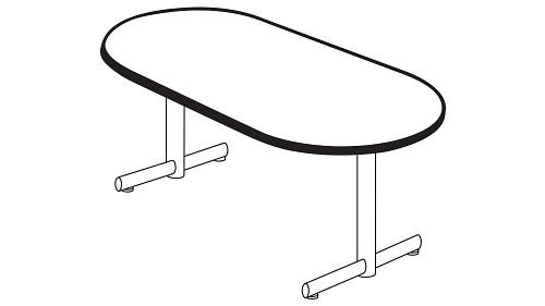 Racetrack Top (Fixed/Folding Leg or Flip-Top)