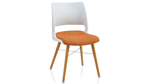 Tapered Wood Leg with Solid Shell (Upholstered Seat)
