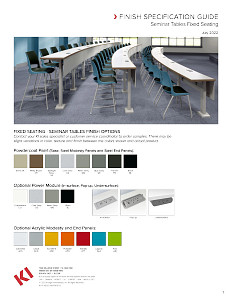 Seminar Tables Fixed Seating Finish Specification Guide