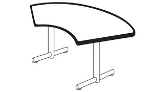 Portico Tables | Crescent Top (Fixed/Folding Leg)