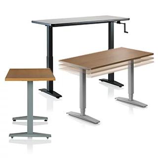 WorkUp Adjustable Tables CAD Symbols