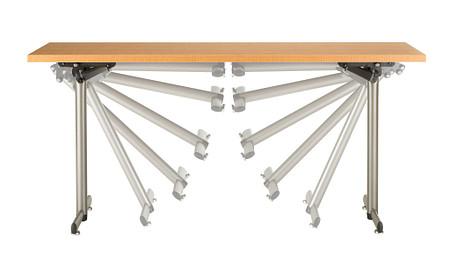 Portico front folding leg motion