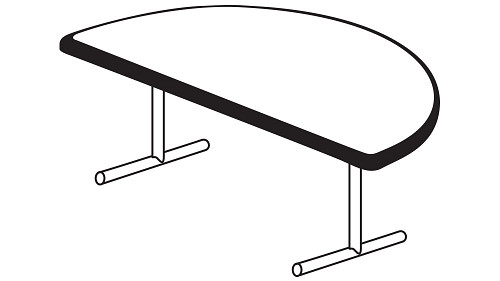 Half Round Top (Fixed/Folding Leg)