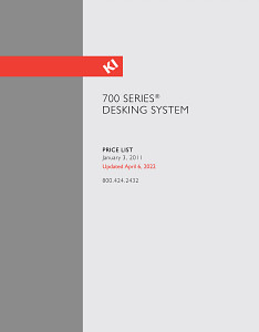 700 Series Desking System Price List