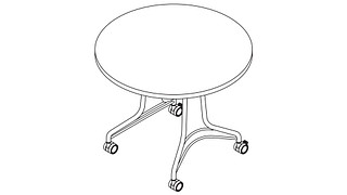 Enlite Tables | Round Top