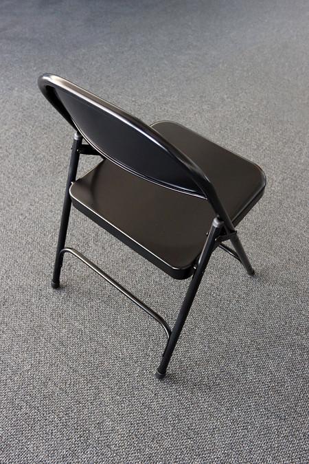 Series FoldingChair Steel BlackBack