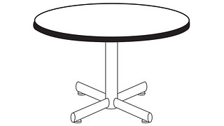 Portico Tables | Round Top (Fixed/Folding Leg or Flip-Top)