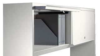 700 Series Desking System | Overhead Storage