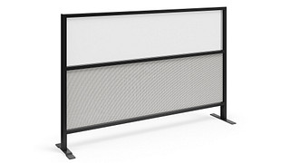Tattoo Screens | Segmented Flex Screen with Fabric Lower, Acrylic Upper Core
