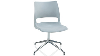 Doni Guest Chair | Fourstar Swivel with Solid Shell (Poly)