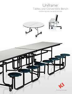 Uniframe Tables and Convertible Bench Brochure