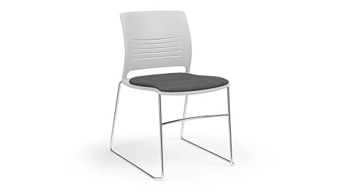 High Density Stack Chair with Upholstered Seat