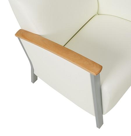 SolticeMetal LoungeChair ArmCapWood detail