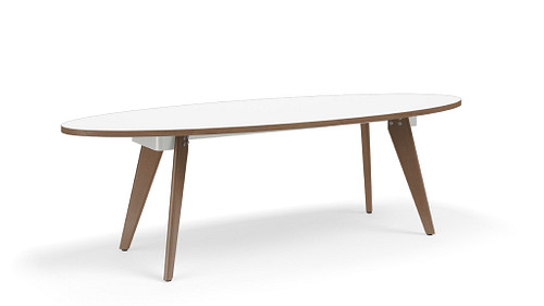 Wood Leg Conference Table